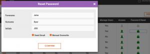 Resetting User Passwords