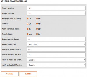 Amending General Alarm Settings