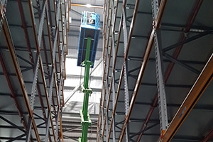 Installation of temperature mapping equipment into a temperature controlledwarehouse