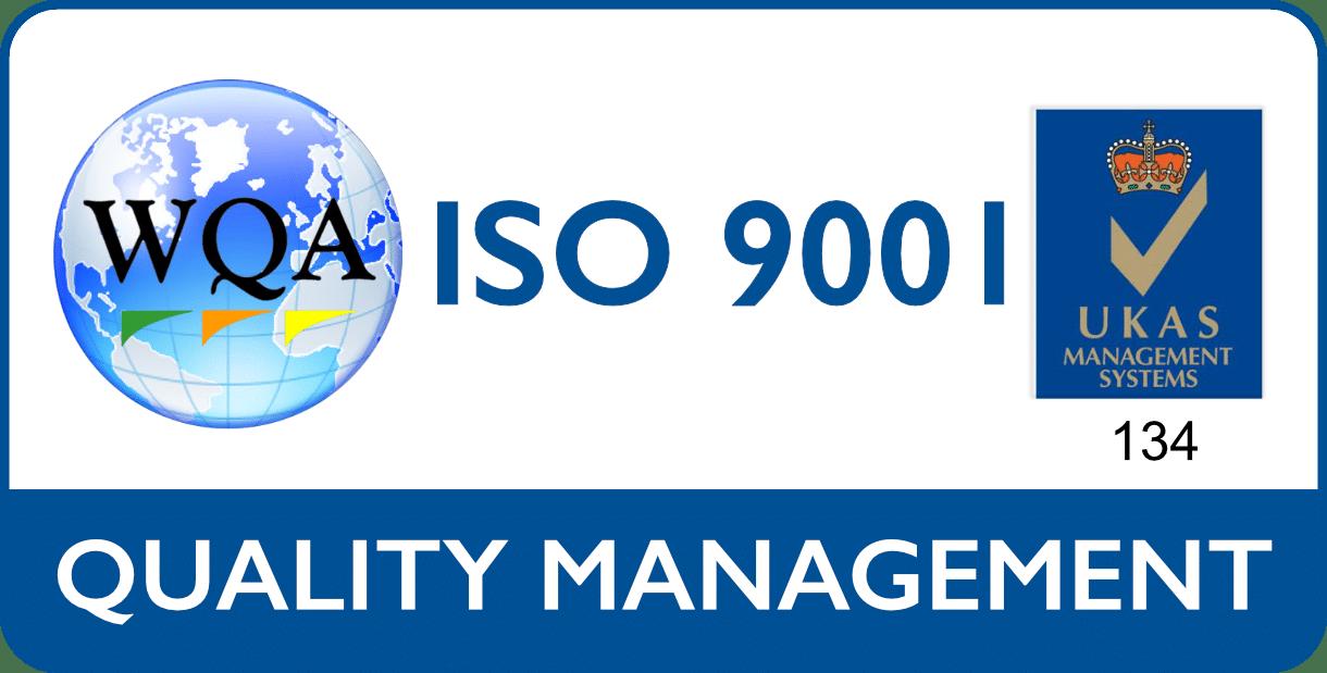 TekTroniks ISO 9001 UKAS management system logo