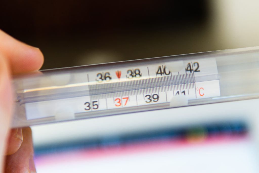 manual temperature check