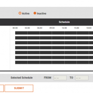 blank schedule on the D3 monitoring system
