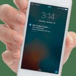 temperature alarm alert on phone