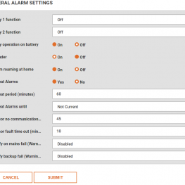 amend general alarms settings, knowledge base