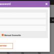 reset password screenshot on D3 system